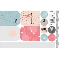 Taschenpanel Cut and Sew DIY pastell