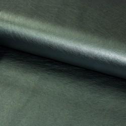 Kunstleder Lederimitat metallic dunkelgrün