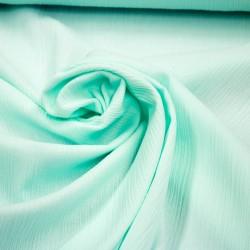 Stoff Crinkle Baumwolle light aqua