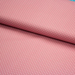Stoff Baumwolle kleine Punkte blush