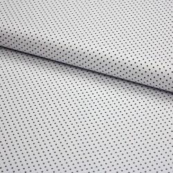 Stoff Baumwolle kleine Punkte weiß schwarz