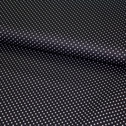 Stoff Baumwolle kleine Punkte schwarz