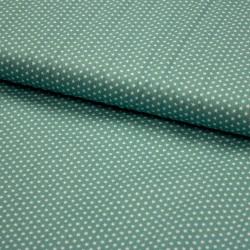Stoff Baumwolle Mini Sterne 0,3cm altgrün