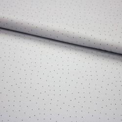 Stoff Baumwebware Popeline Subina - Punkte auf grau