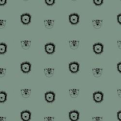 BIO Baumwolle Popeline Löwe - dusty mint