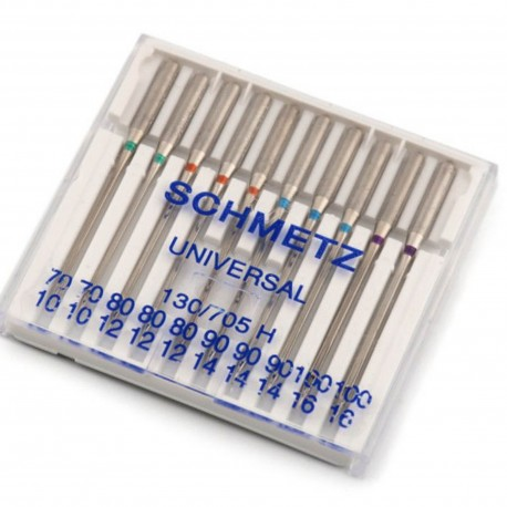 SCHMETZ Nähmaschinennadeln 10 Universal-Nadeln, Nadeldicke 70/10-100/16, 130/705 H