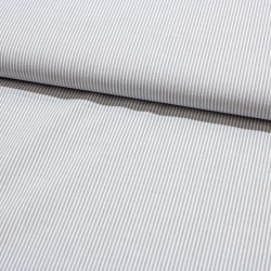 Seersucker gestreift grau weiß