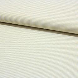 Seersucker gestreift senf weiß