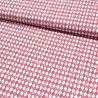 Baumwollstoff Popeline Arlequeen Rauten - rouge