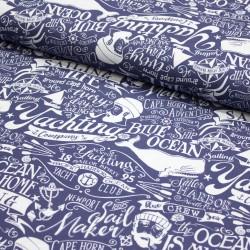Dekostoff auf Baumwolle - Ocean in my home - maritim