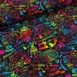 Baumwollstoff Timeless Treasure Goddness Motifs Rainbow