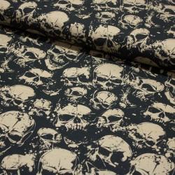 Baumwoll-Jersey THEO Skull schwarz beige