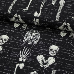 Baumwollstoff Timeless Treasure Glow in the dark - Skeletons