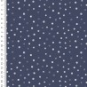 Baumwoll-Jersey Toff Dots blau