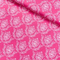 Stoff Baumwolle Flower Parade Ornamante pink