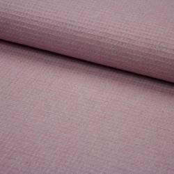 Waffelpiqué meliert uni dusty pink