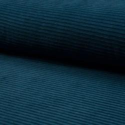 Cord Jersey - breit gerippt - UNI petrol