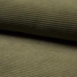 Cord Jersey - breit gerippt - UNI army