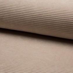 Cord Jersey - breit gerippt - UNI sand