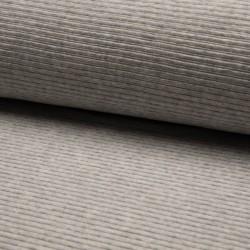 Cord Jersey - breit gerippt - UNI hellgrau meliert