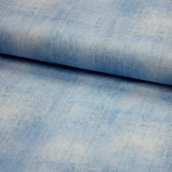 Baumwoll-Jersey - jeanslook - UNI hellblau