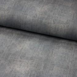 Baumwoll-Jersey - jeanslook - UNI grau