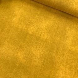 Baumwoll-Jersey - jeanslook - UNI senf