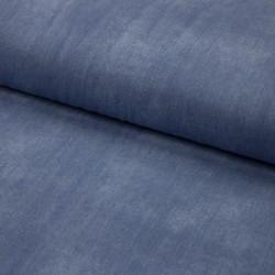 Baumwoll-Jersey - jeanslook - UNI altblau