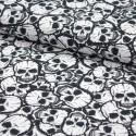 Baumwoll-Jersey Druck Skull allover - Totenkopf - Premium Collection