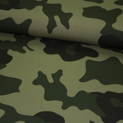 French Terry Big Camouflage Army