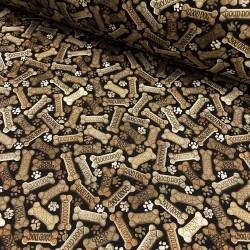 Baumwollstoff Timeless Tossed Dog Bones