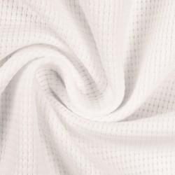 Stoff Waffel Jersey Clarissa - natur weiß
