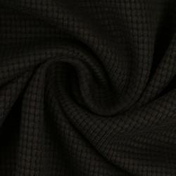Stoff Waffel Jersey Clarissa - schwarz