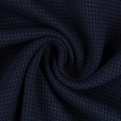 Stoff Waffel Jersey Clarissa - dunkelblau