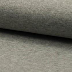 Bündchen Stoff glatt grau meliert