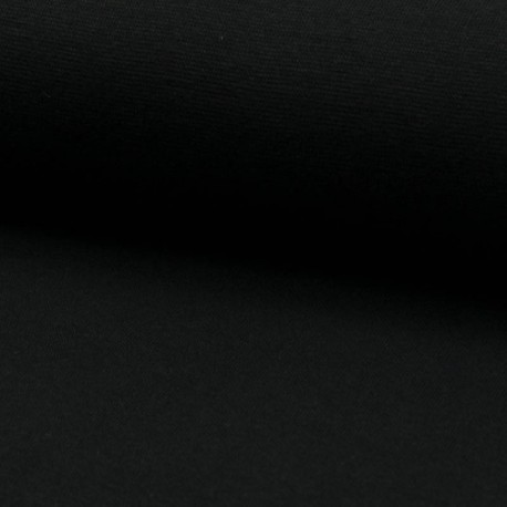 Bündchen Stoff glatt schwarz