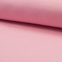 Bündchen Stoff glatt rosa