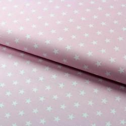 Stoff Baumwolle kleine Sterne hellrosa