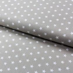 Stoff Baumwolle kleine Sterne sand