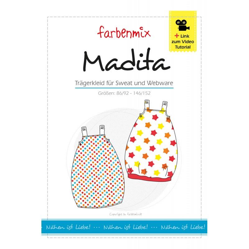 Madita Trägerkleid Papierschnittmuster Farbenmix kaufen - Brittschens