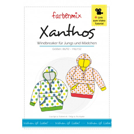 Xanthos Windbreaker Papierschnittmuster Farbenmix kaufen - Brittschens