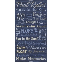 Baumwollstoff Timeless Treasure  Panel Pool Blue Rules