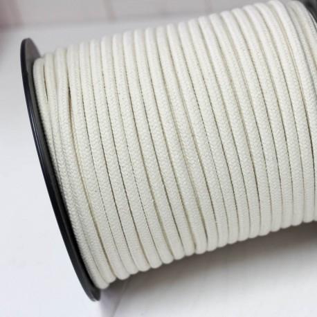 Runde Baumwoll Kordel 8mm cremeweiß