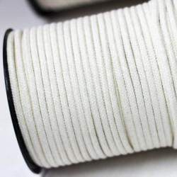 Runde Baumwoll Kordel 5mm cremeweiß