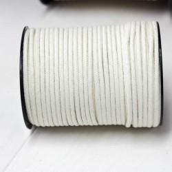 Runde Baumwoll Kordel 3mm cremeweiß