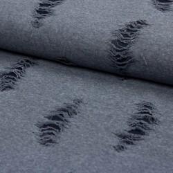 Stoff Fashion Stoff in Ausbrenneroptik jeansblau
