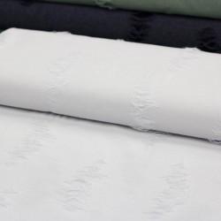 Stoff Fashionstoff in Ausbrenneroptik weiß