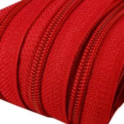 Reißverschluss endlos 5mm Schiene rot