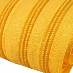 Reißverschluss endlos 5mm Schiene gelb