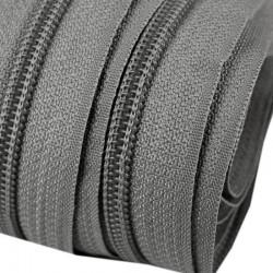 Reißverschluss endlos 5mm Schiene grau